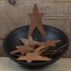 Rusty Tin Star Pick - Package of 8