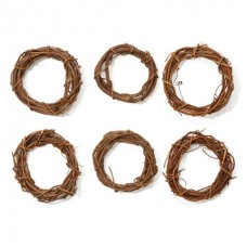 "6"" Grapevine Wreaths - Package of 6"