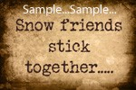 "T43 - ""Snow Friends Stick Together"" Signs"