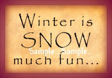 T49 - Winter is SNOW much fun... Signs